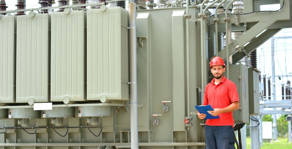 electric transformer blasting and painting